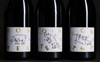 roster wine bottles rhino rot friedrich becker
