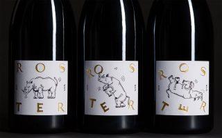 roster wine bottles rhino rot friedrich becker